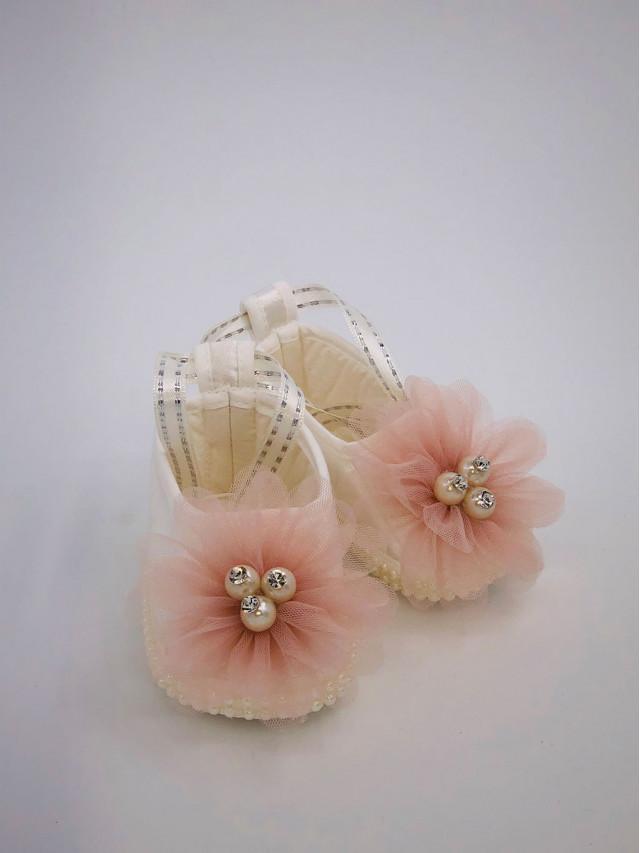 Pantofi de botez pentru fetite BF-003