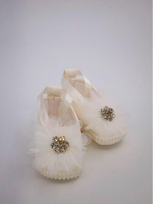 Pantofi de botez pentru fetite BF-004