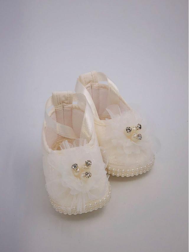Pantofi de botez pentru fetite BF-005