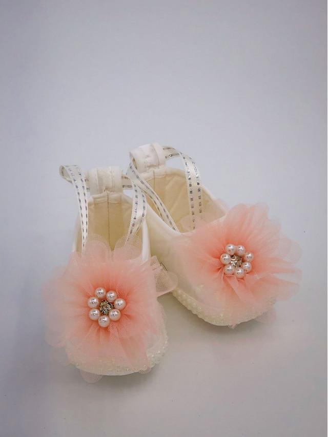 Pantofi de botez pentru fetite BF-006